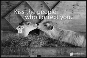 kiss the people who correct you