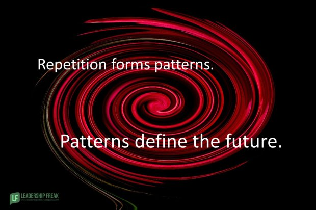 repetition forms pattersn. Patterns define the future.