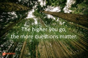the higher you go, the more questions matter