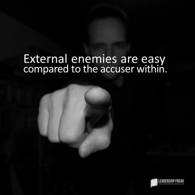 external enemies are easy compared to the enemy within