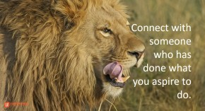 connect with someone who has done what you aspire to do