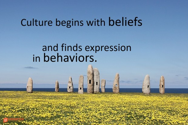 culture begins with beliefs and finds expression in behaviors