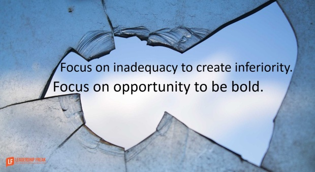focus on inadequacy to create inferiority