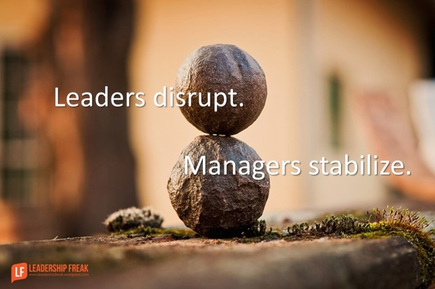leaders distrupt