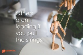 others aren't leading if you pull the strings