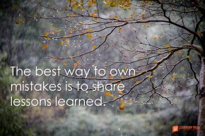 the best way to won mistakes is to share lessons learned