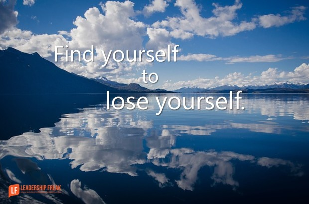 find yourself to lose yourself