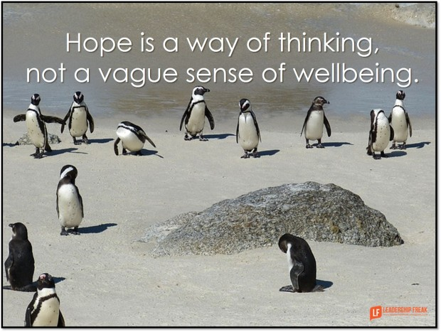 hope is a way of thinking not a vague sense of wellbeing