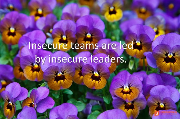 insecure teams are led by insecure leaders
