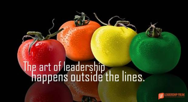 the art of leadership happens outside the lines