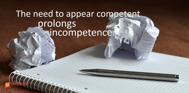 the need to appear competent prolongs incompetence