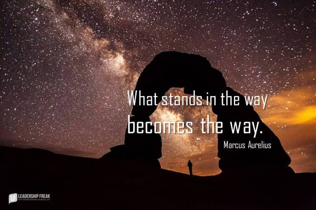 what stands in the way becomes the way