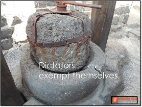 dictators exempt themselves