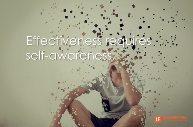 effectiveness requires self-awareness