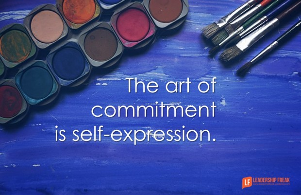 the art of commitment is self-expression