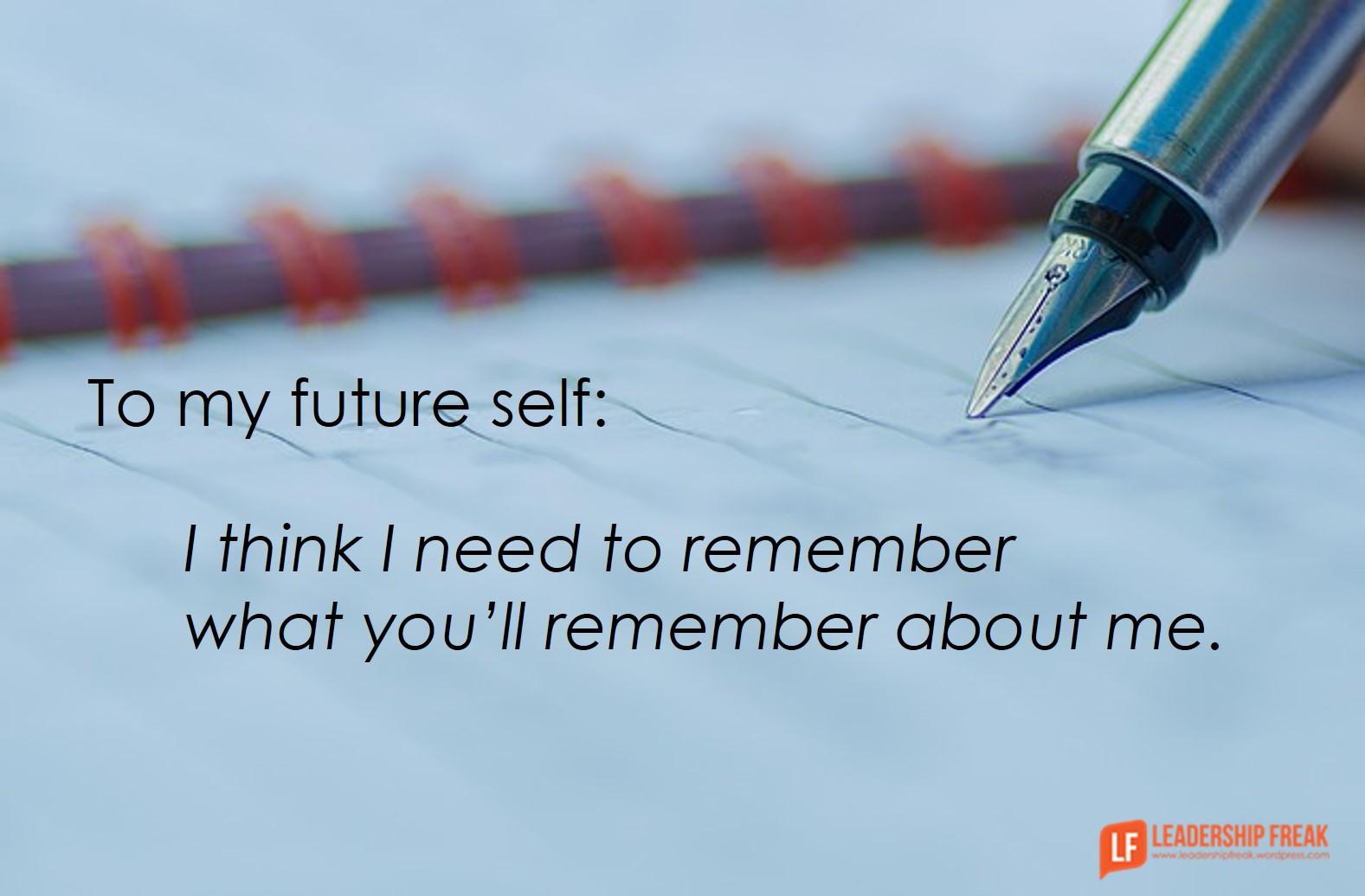 12 Promises to My Future Self | Leadership Freak