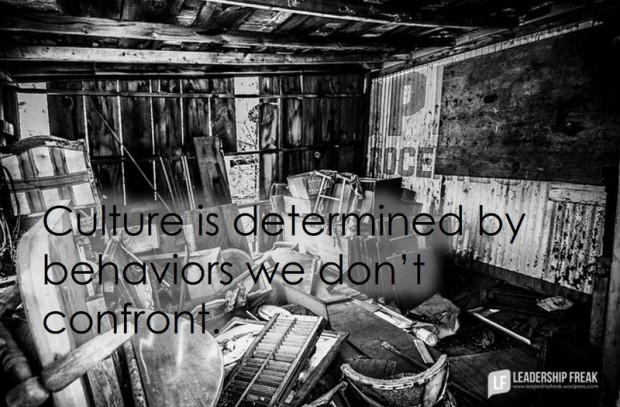 culture is determined by behaviors we don't confront