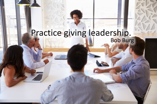 practice giving leadership