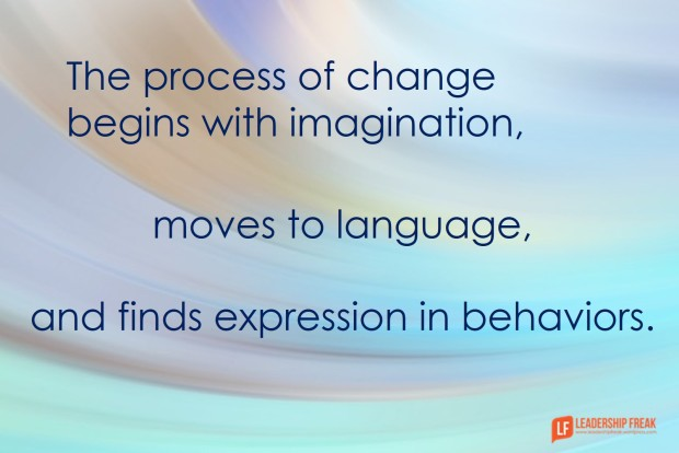 the process of change begins with imagination
