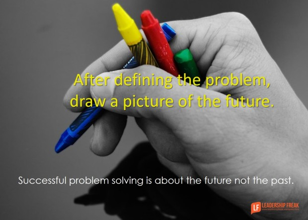 after defining the problem draw a picture of the future