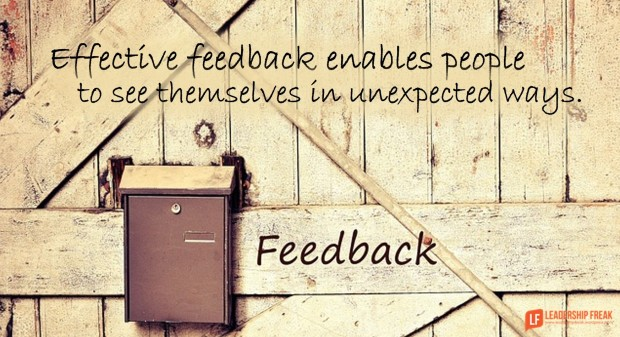effective feedback enables people to see themselves in surprising ways