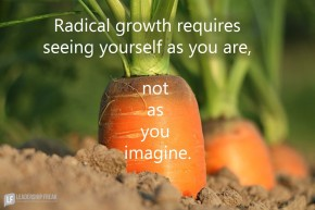radical growth requires seeing yourself as you are not as you imagine