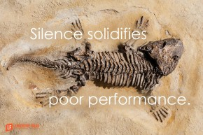 silence solidifies poor performance