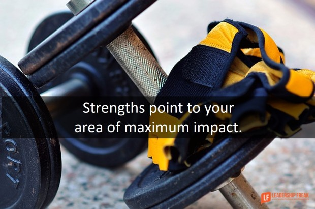strengths point to your area of maximum impact
