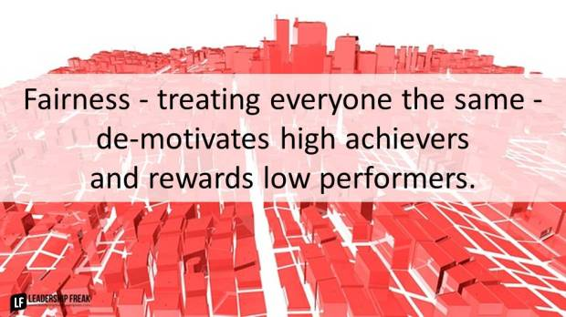 fairness-treating-everyone-the-same-demotivates-high-achievers-and-rewards-low-performers