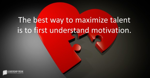 the best way to maximize talent is to first understand motivation