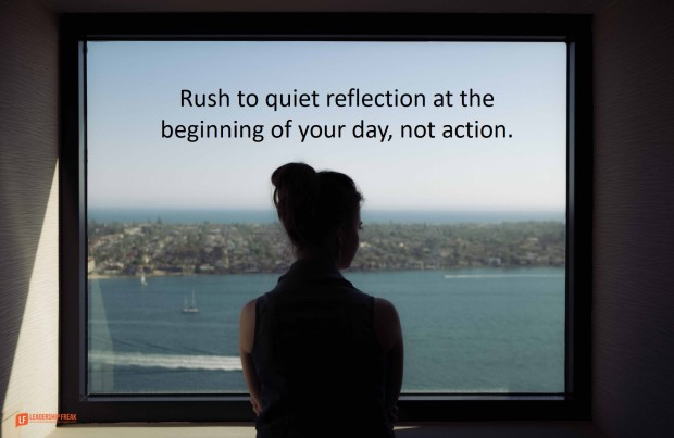 rush to quiet reflecction