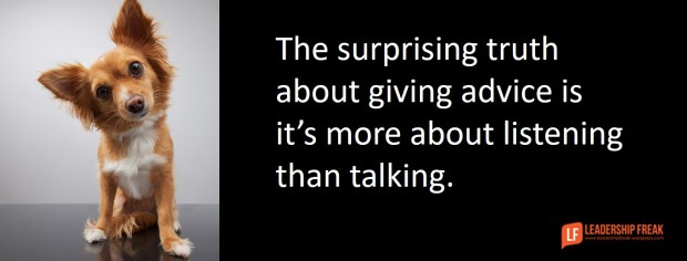 the surprising truth about giving advice