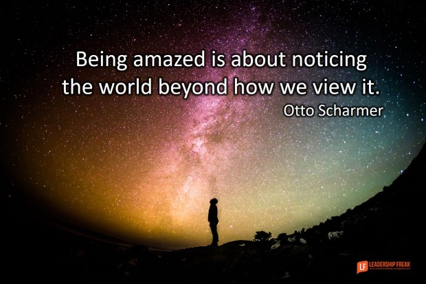 being amazed is about noticing the world