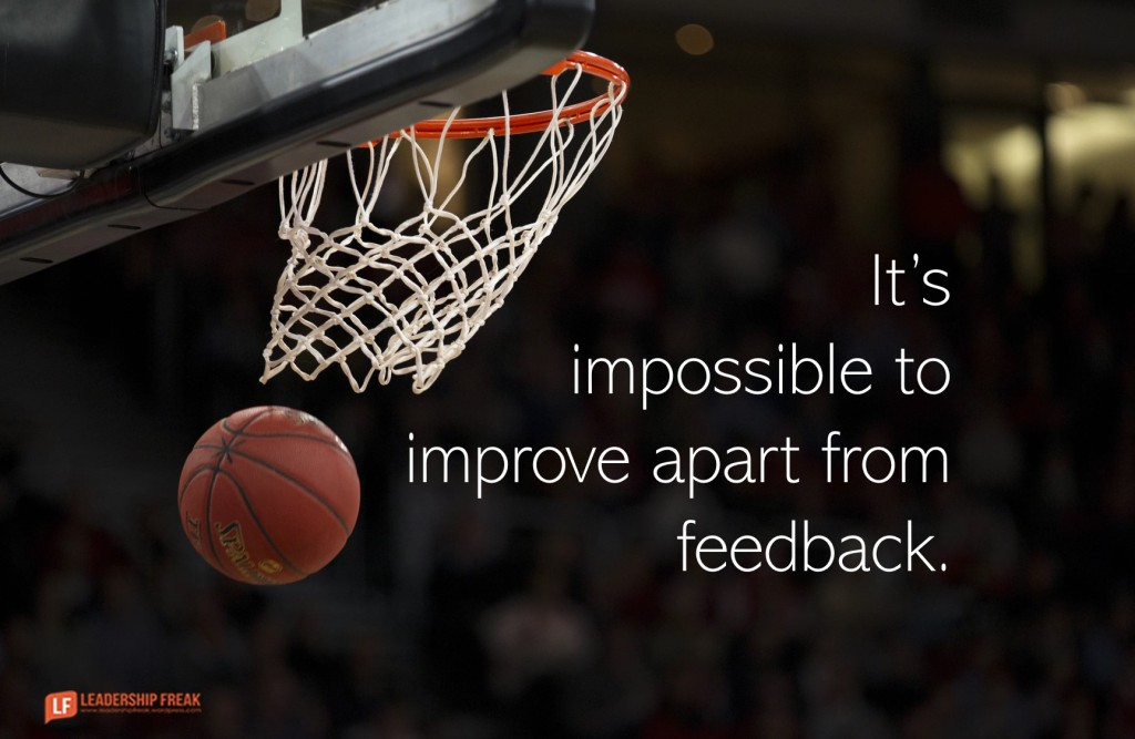 Basketball  It's impossible to improve apart from feedback.