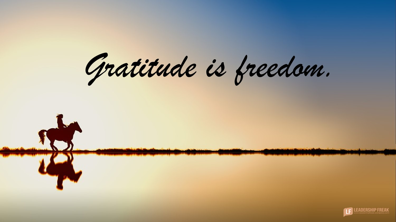 The Five Freedoms of Gratitude