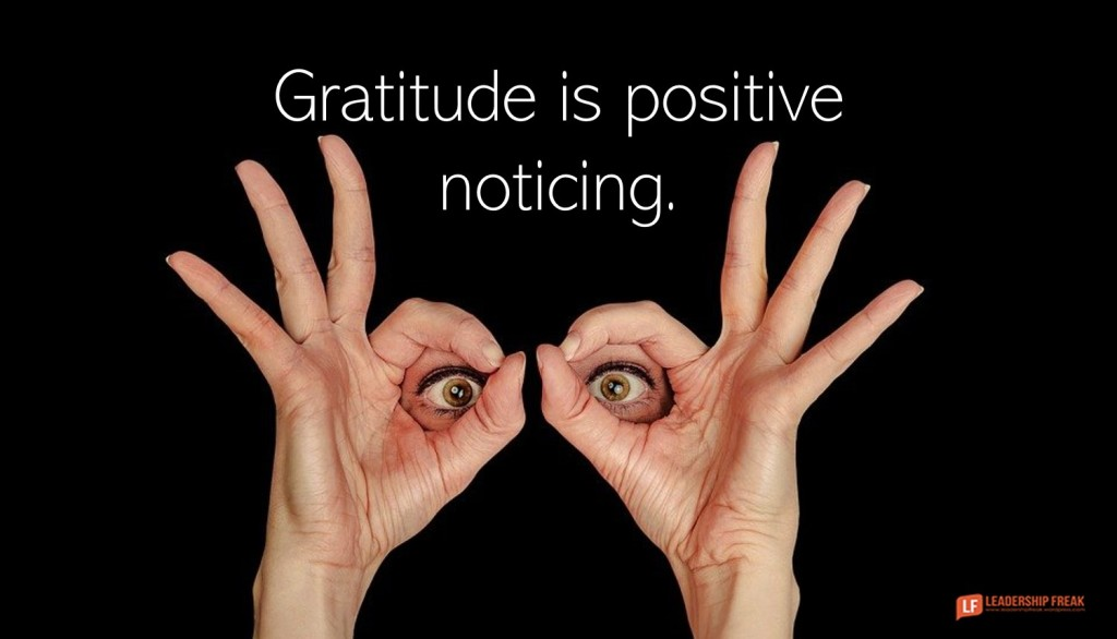 Eyes.  Gratitude is positive noticing.