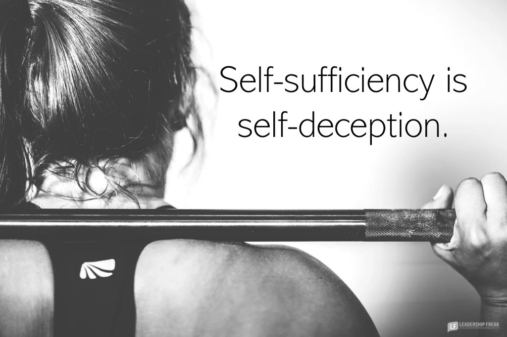 Female weightlifter   Self-sufficiency is self-deception.