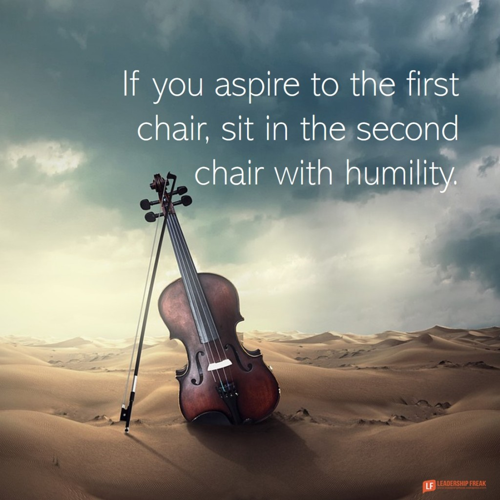 Violin.  If you aspire to the first chair, sit in the second chair with humility.