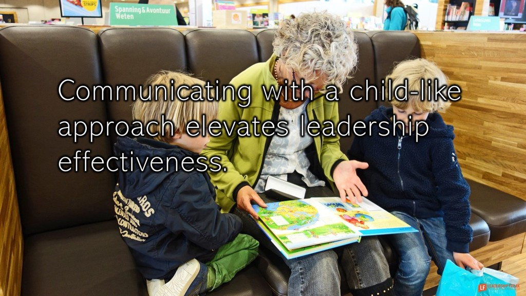 Grandmother reading. Grandchildren  Communication with a child-like approach elevates leadership effectiveness.