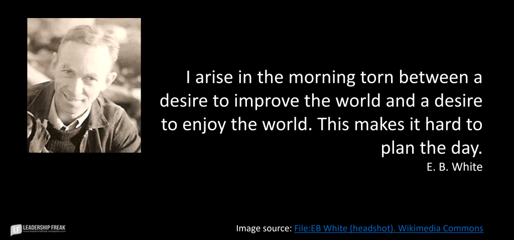 Image of E. B. White smiling.
